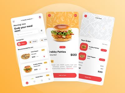 Food Delivery App interface food app design food app minimal icon ux design ui