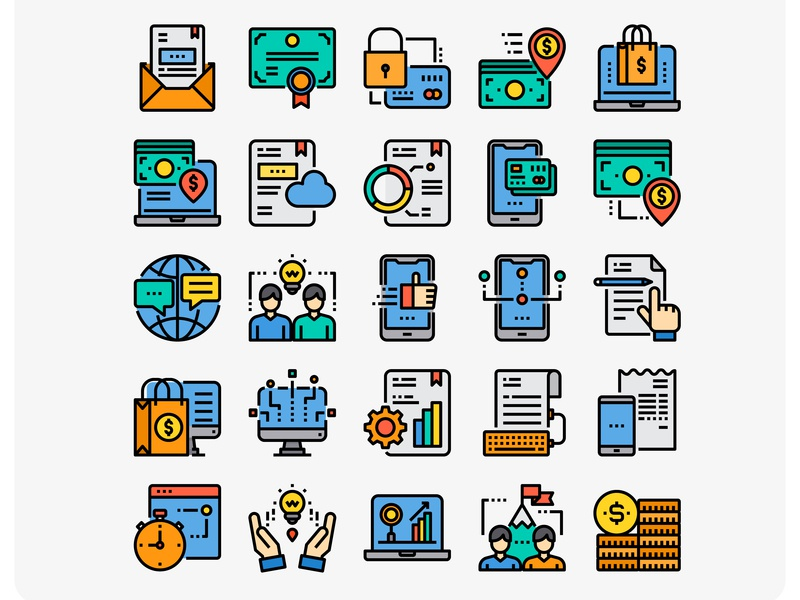 Business Icons illustration web vector ui design icon