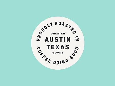 Coffee badge. atx coffee badge branding