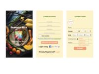 Seasonal Bite - Mobile App Screens