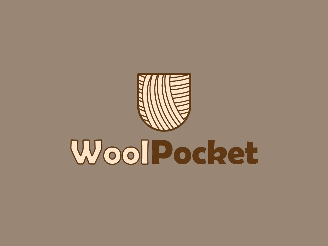 Wool Pocket vector logo icon flat design branding