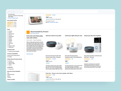 Recommended by Amazon desktop launched smart home amazon