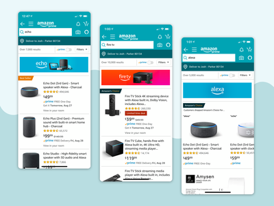 Amazon Devices Brand Banner search ux ui shopping app amazon