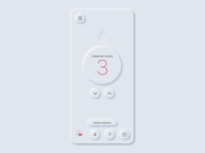 Fire Control App Early Concept app fire icon design ux ui control app soft ui neumorphism