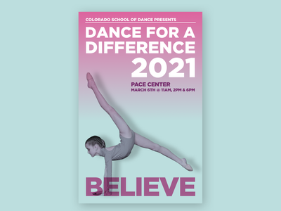 Dance for a Difference Poster dance duotone gradient poster