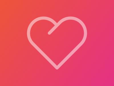 Heart icon pluralsight icon recommend favorite heart