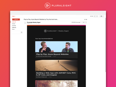 Pluralsight Weekly Digest ui ux digest email pluralsight