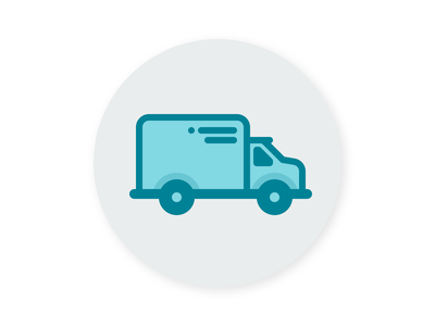 A Truck for a Thing badge truck logo icon illustration flat