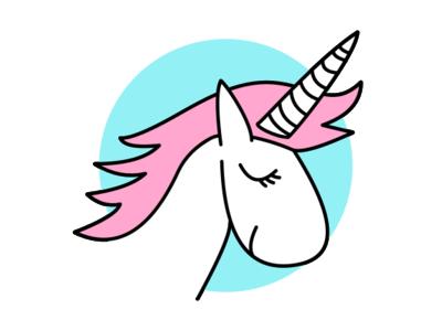 Unicorn Dribbbs design illustration unicorn