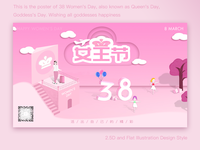 Women's Day. 2.5D and Illustration
