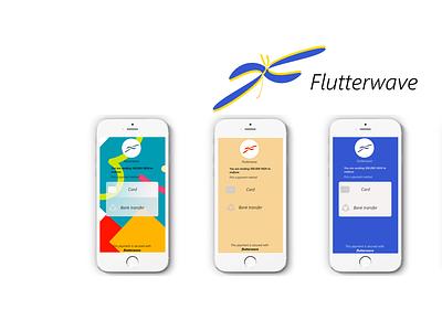 flutterwave clean web minimal website logo ui ux design branding app