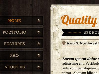 Homepage wood paper texture