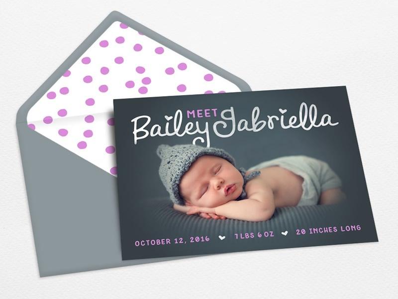 Aquabella Font baby cute announcement envelope card hand-drawn sans aquabella script font