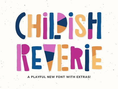 Childish Reverie Font fun 80s 90s retro memphis hand-drawn playful font