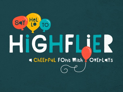 Highflier Font fun 80s 90s retro cutout hand-drawn playful font