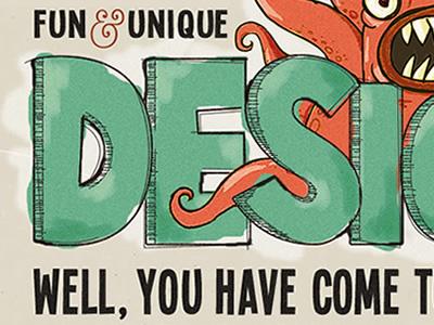 Hand drawn typography typography hand drawn teal orange