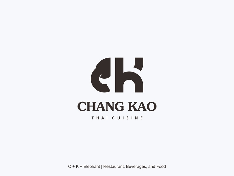 Chang Kao initial logo lontong design logo design