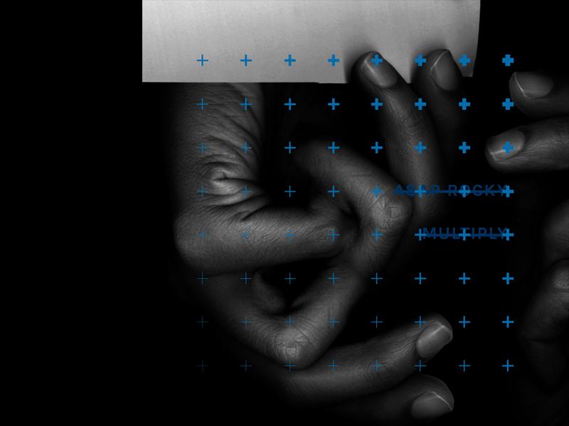 Multiply vector type album grid single typography asap rocky hands