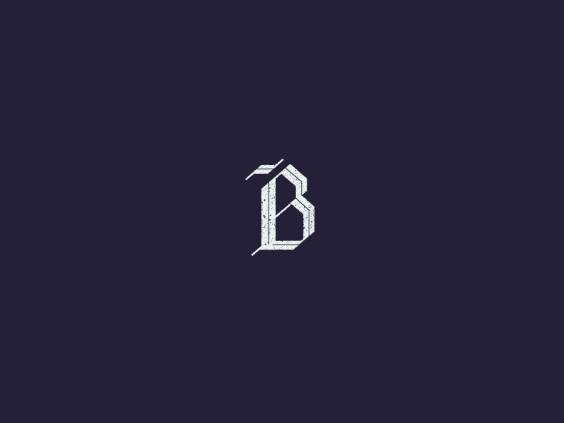 Blackletter B capital blackletter 36 days of type type letter texture vector