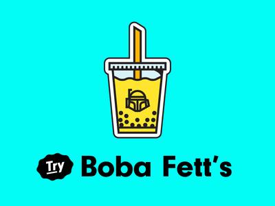Boba Fett's Milk Tea Magnet