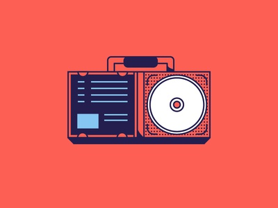 Laser Disc Boombox