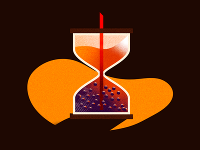 Boba Time noise gradient flat hourglass time boba illustration texture vector