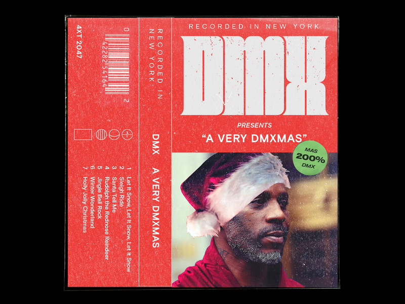 Merry Dmx-mas 🎄 cassette cover album album art flat retro music layout texture