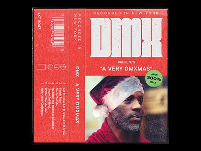 Merry Dmx-mas 🎄 cassette cover album album art flat retro music layout texture