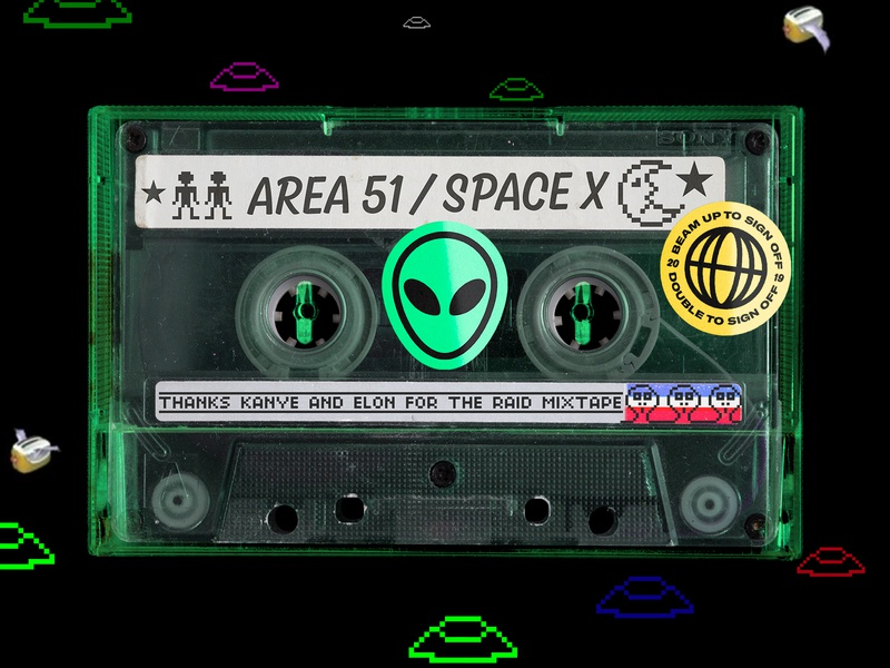 Area 51 Mixtape 🤔👽 music cassette tape 90s retro
