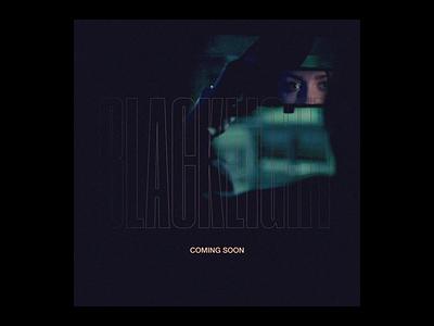 Blacklight - Coming Soon layout retro typography texture vector