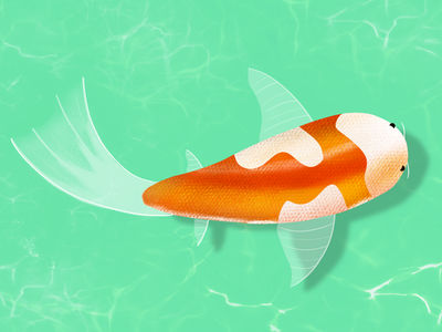 Lagon bleu reproduction @galshir illustration fish