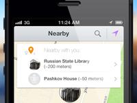 Flat design in new iOS app