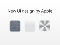 New UI design by Apple