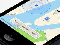 Maps/Satellite/Hybrid control in Digital October app