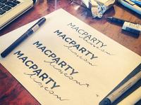 MacPartyMoscow new logo WIP