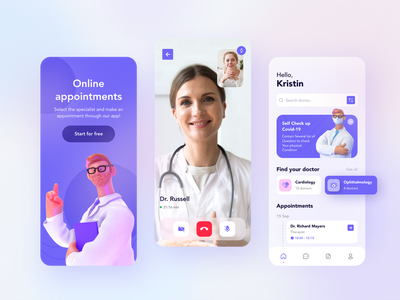 Medical Mobile App healthcare health app health clean ui mobile design mobile app mobile ui illustration minimal mobile app concept figma creative ux ui design