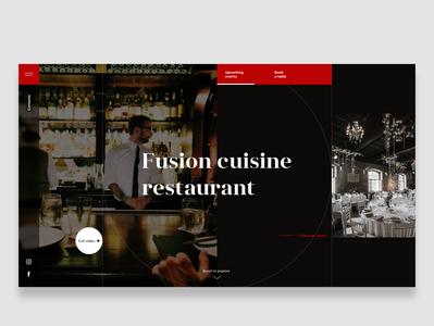 Restaurant Website - main page design