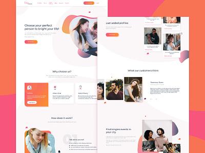 The dating website redesign creative figma redesign web ux ui design