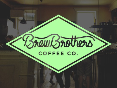 Brewbrothers Logo Concept logotype hand lettering typography branding lettering