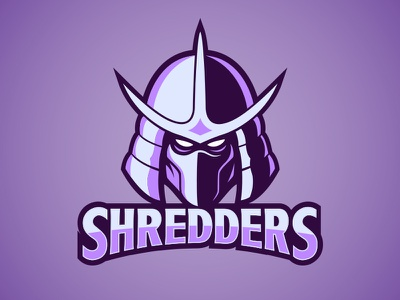 Shredders Fantasy Football Logo logo fantasy football purple vector lineart illustration