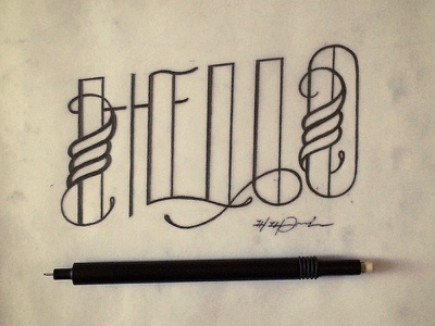 It all starts with a hello. type typography hand lettering lettering