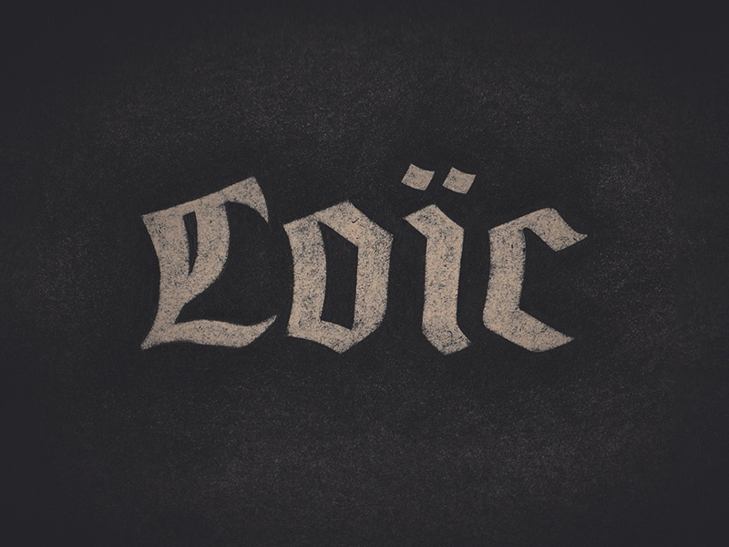 Unsolicited logos #1 — Loïc branding logo lettering hand lettering typography type