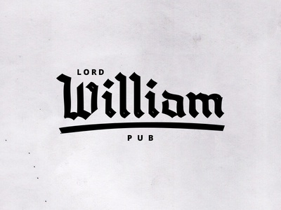 Unsolicited logos #2 — Lord William Pub