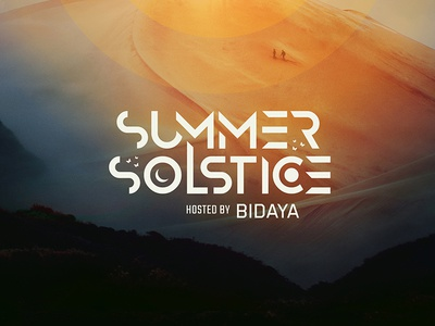 Summer Solstice party poster