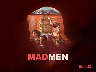 Madmen Netflix Poster poster collection branding poster challenge madmen art direction design poster art graphic design illustration netflix poster