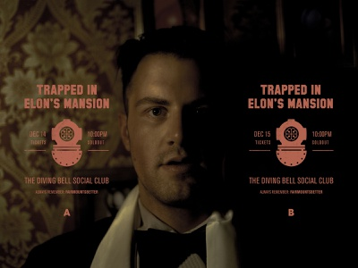 Trapped in Elon's Mansion — Play Banner poster art graphic  design visual design typography creative direction art direction photography theatre play banner poster