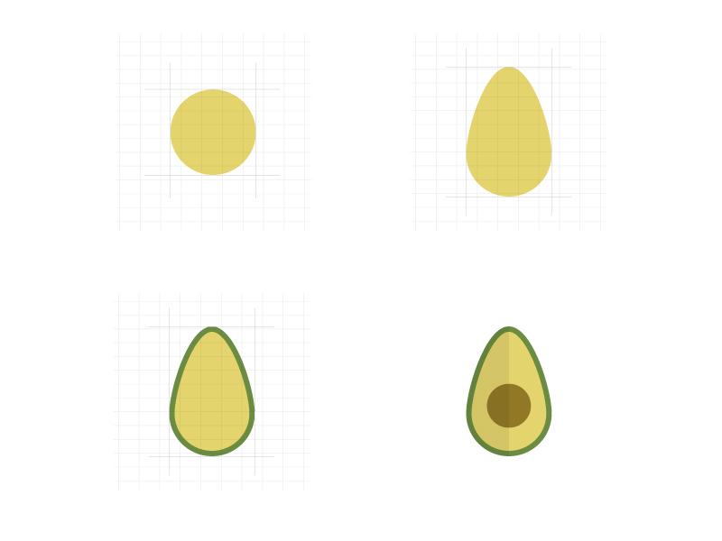 Design process part 2: from circle to avocado geometric shapes geometry circle avocado logo flat design illustration design