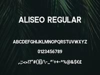 Aliseo Font Family - Sans Serif - Regular