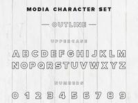 Modia Font Family – Sans Serif – Outline 1