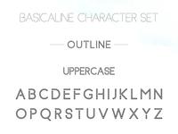 Basicaline Font Family – Sans Serif – Outline 1